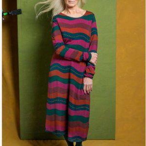 Gudrun Sjoden Bold Stripe Midi Dress E29